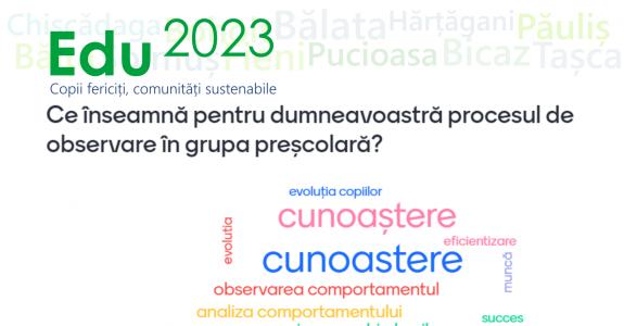 Atelierele Edu2023: Primul modul al cursului pentru Observarea și Înregistrarea Datelor la grupă