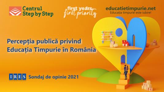Primul sondaj de opinie privind percepția Educației Timpurii în România
